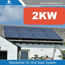 Solar Flat Roof Mount manufacturers and factory 2KW at best price residential Grid-Connected Photovoltaic System with solar pane