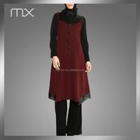 Best Quality Fabric Button Long Burqa Fashion Design Muslim Women Clothing
