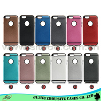 Free sample 12 colors black tpu +colorful pc sublimation phone case For iphone 6 case