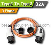 Male To Female 32A Charging Plugs 3 Phase
