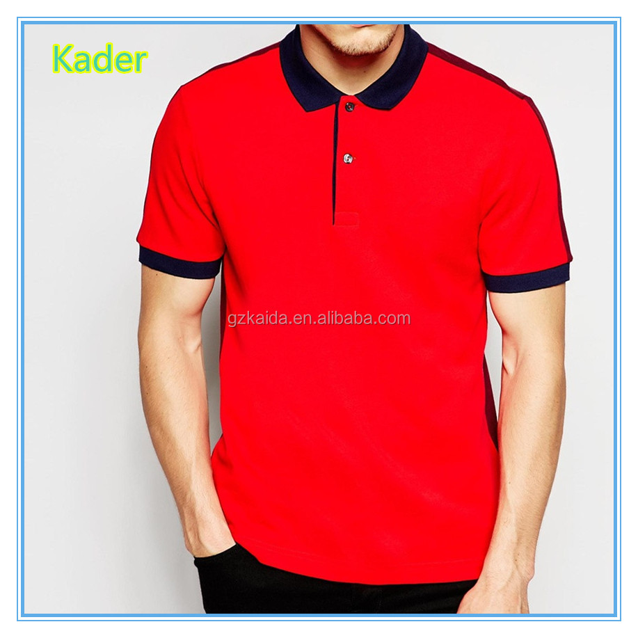 Custom two color polo shirt in guangzhou manufacturer for Custom polo shirt manufacturers