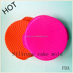 cake/cooking tools Kitchenware Houseware chocolate round silicone cake/pizza baking big pans/plates/trays molds/moulds