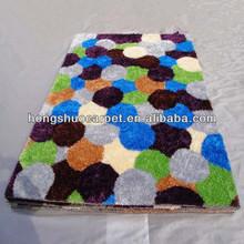New Polyester shaggy silk rug