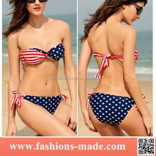 2015 sexi usa flagge banduau sexy american flag bikini