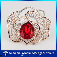 Fashion Jewelry Alibaba New Products Wholesale Crystal Flower Brooch