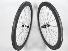 2015 hot 50mm*23mm U shape carbon tubular wheelset 700c road bicycle carbon tubular wheels 3K Matte