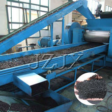 Automatic waste tyre recycling machine (500/1000kg) with line for the production of rubber tiles