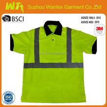 wholesale alibaba hot Safety shirt 100% polyester short sleeves safety shirts