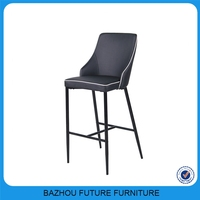 Breakfast leather chair bar stools bar metal bar stool high chair