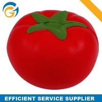 2015 High Quality Soft Red Tomato Pu Stress Ball