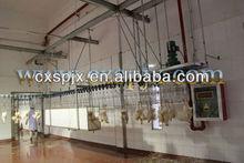 Matadero de aves de corral equipos/pollo sacrificio línea de producción/agua entumecidas stunner