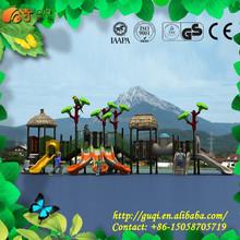 Plastic Three Way Slide,Outdoor Children Playground ,Outdoor Amusement Playground Equipment GQ-003-A