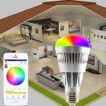 new hot selling products Android IOS RGBW e27 7w rgbw smart led bulb 550 lumens wi-fi control epistar led app ios android