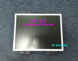 "open frame monitor, low cost 15"" tft lcd monitor for industrial automation/plc controller/bank atm/outdoor kiosk"