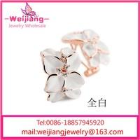 g230 crochet flower ear warmer hawaiian ear flower pressed flower earrings