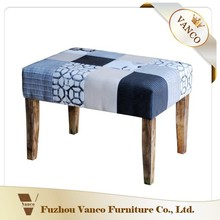 Modern design wooden & Velvet Fabric KD BENCH