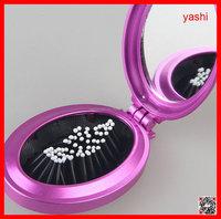 YASHI magic folding hair brush with mirror