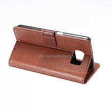 Luxury Wallet Credit Card Book Style Flip Stand Leather Case Back Cover For Samsung Galaxy S6 / S6 edge flip leather case