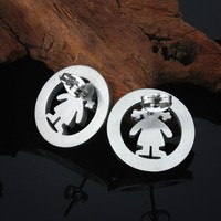 silver plated young girls necklace earring jewelry set poland