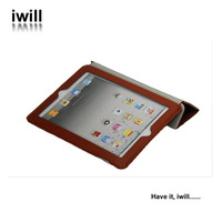ultra thin flip leather case for ipad2/ipa3/ipad4, tablet for ipad cover