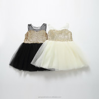 2015 Sparkle Dresses Girl Sequins Summer Boutiques Girl Party Dress