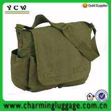 Army military classic heavy weight custom canvas messenger bag