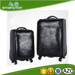 unique luggage sets for travel pu wheel suitcases