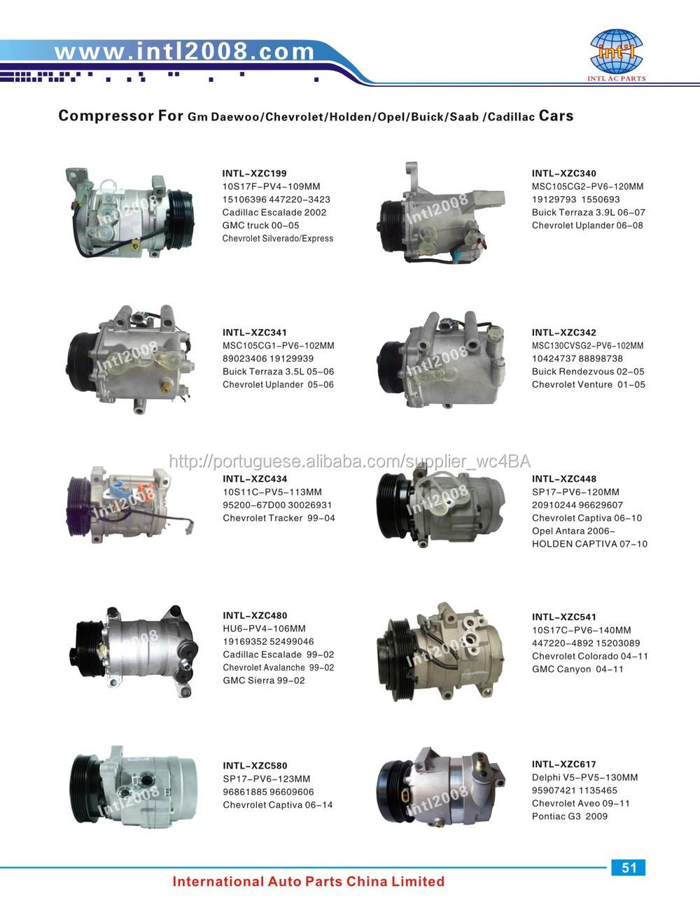 Denso 10s11e Auto Ac Compressor For Chevrolet Tracker Suzuki Colorado 3 5l Engine Parts Diagram Gm Daewoo Opel Buick Saab Cadillac 1 51