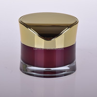 50g red luxury cosmetic acrylic jars empty for skincare
