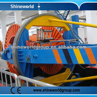 Drum Twister Type Cabling Machine with caterpillar & steel wire armoring