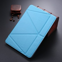 LETSVIEW Durable Top Selling PU Leather Flip Case for Mini Ipad 1/2/3 Genuine Original Soft Transparent Back Cover with Stand