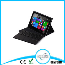 Shenzhen factory wholesale mini bluetooth keyboard for tablet with PU-leather cover