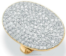 18k Yellow Gold Plated Ring 3A zircon mirco pave ring hot sell
