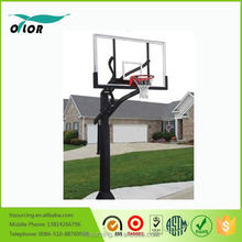 "Good price best quality outdoor adjustable in ground basketball stand with 72"" board"