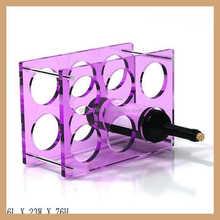 GH-W009 rectangle sharpe 6 bottle wine racks, red wine rack , plastic bottle rack