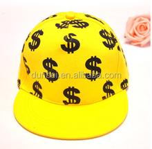 China factory custom wholesale 2015 new fashionable child hip hop baseball cap