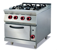 Commerical Gas Range With 4-Burner & Oven GH-787A-2
