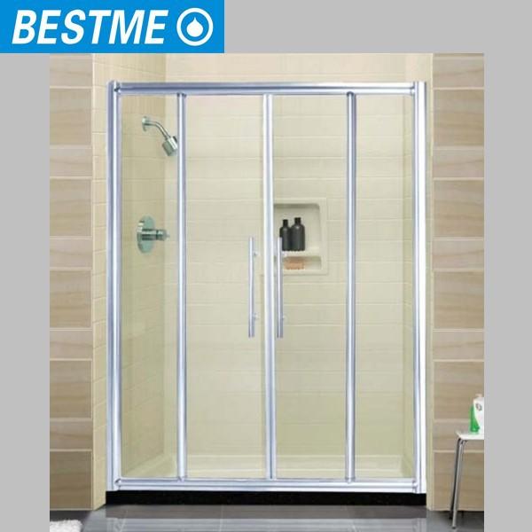 Glass shower door seal frameless shower doors bath for Types of sliding glass doors
