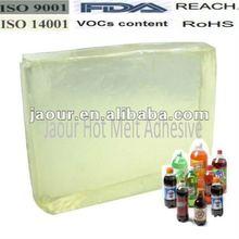 Raw material /hot melt adhesive (block shape) for PVC PET OPP Bottle Labels