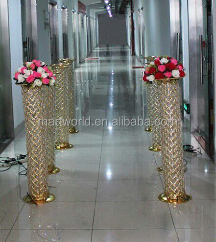 1m Lighted High Quality Crystal Pillars Columns For Wedding DecorationsColumns For Wedding