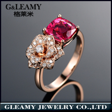 jewelry making supplies wholesale china fashionable value 925 silver rose ring cushion pink stone rings for girls