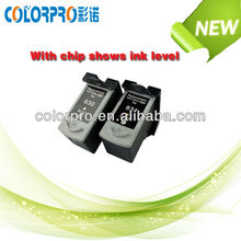 New products For Canon CL-831 PG-830 Remanufactured ink cartridge with chip shows ink level