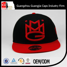 wholesale nice sharpe red embroidery snapback cap with flat brim