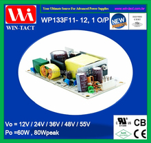 1U open frame led cctv power supply 12v 5a 60w