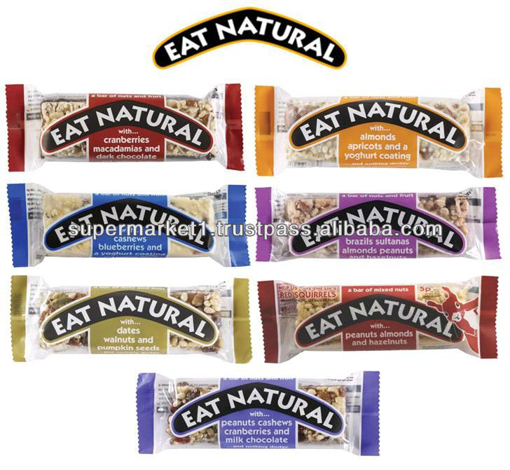 Eat Natural Healthy Snack Bars - Gluten Free - Various