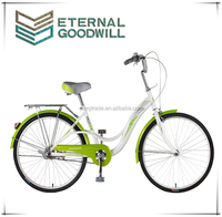 24 inch steel frame single speed Dutch retro classic ladies urban bike for Chistmas gift model GB3052