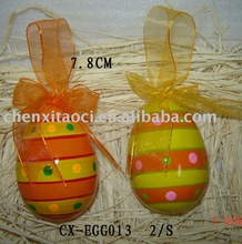 Easter egg hanging decoration-ceramic egg
