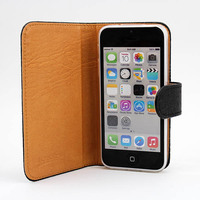Cute Faerie Leather flip wallet case for apple iphone5 5g