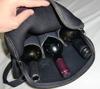Deluxe Insulated 3 Pack Bottle Neoprene cooler bag for wine