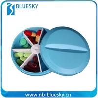 7 days plastic round pill box tablet box